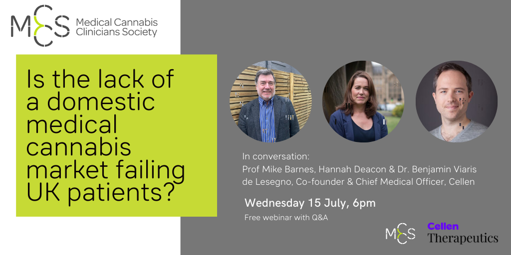 Is the lack of a domestic medical cannabis market failing UK patients? Join the conversation on 15 July 2020