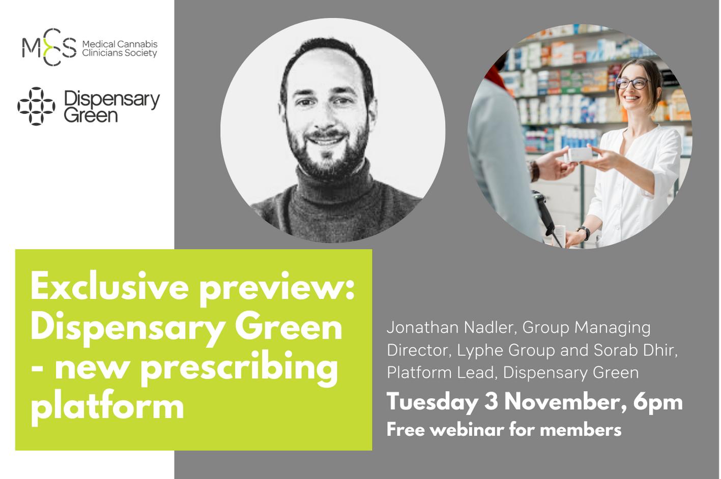 Webinar: Exclusive preview of Dispensary Green – new prescribing platform