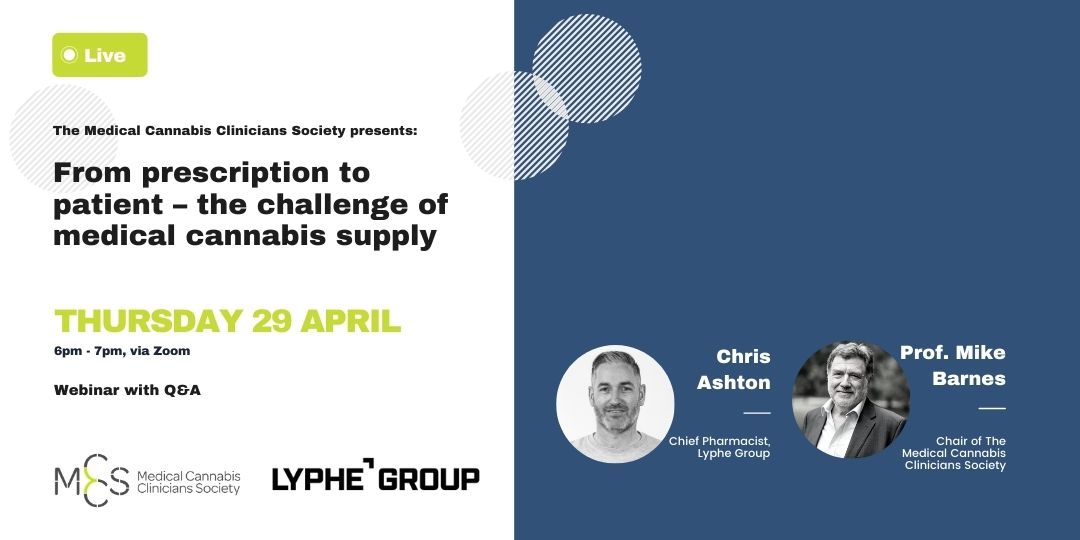 Webinar – From prescription to patient – the challenge of medical cannabis supply