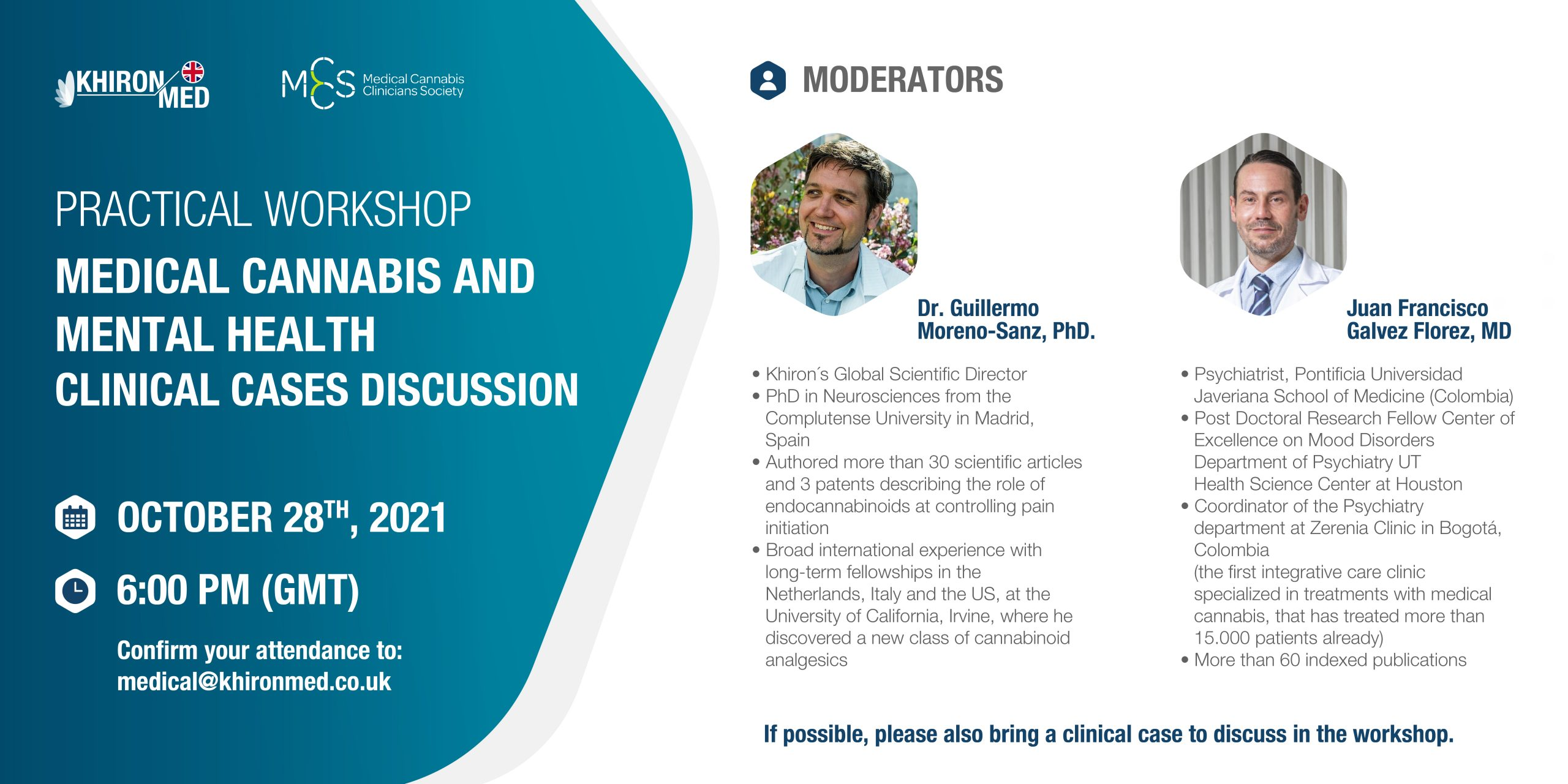 Practical Workshop – Medical Cannabis & Mental Health Clinical Case discussion